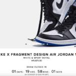 チャンス再び!fragment x Air Jordan 1再抽選